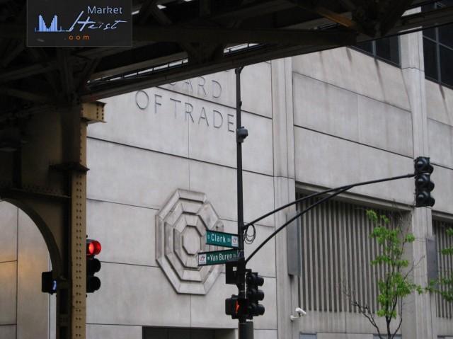 CBOT Building, Van Buren & Clark intersection